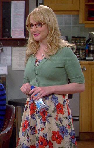Bernadette s blue and red floral dress on The Big Bang
