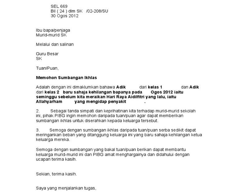 Contoh Surat Rasmi Kerajaan Brunei Resepi Ayam K