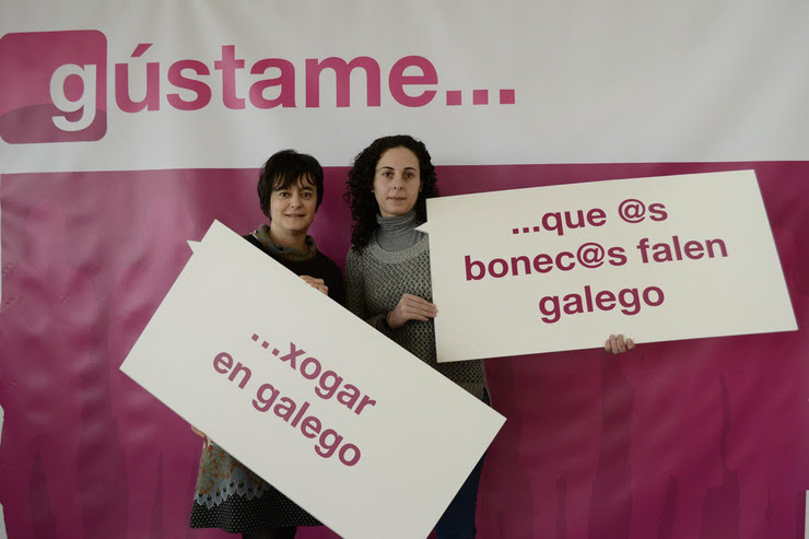 María Cristina Rodríguez e Eva María Castro, autoras do manual 'Na Universidade. En galego con seguridade'