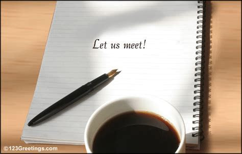 Let's Meet! Free Appointments eCards, Greeting Cards   123