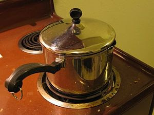 Pot on stove / Used as an icon in Template:Use...