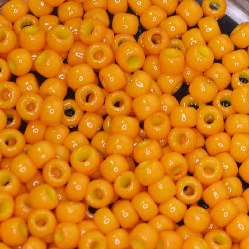 tb6r0825 Japanese Seedbeads - 6/0 Toho Seedbeads - Pumpkin