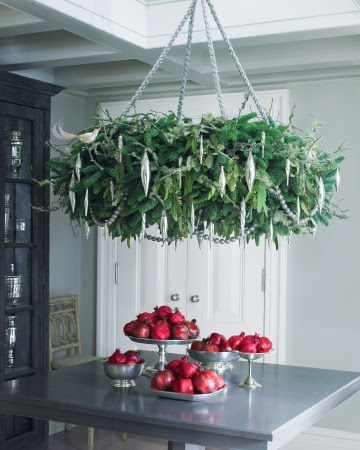 wreathchandelierDIY Christmas Decoration