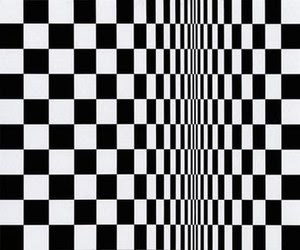 Movement in Squares, by Bridget Riley 1961.
