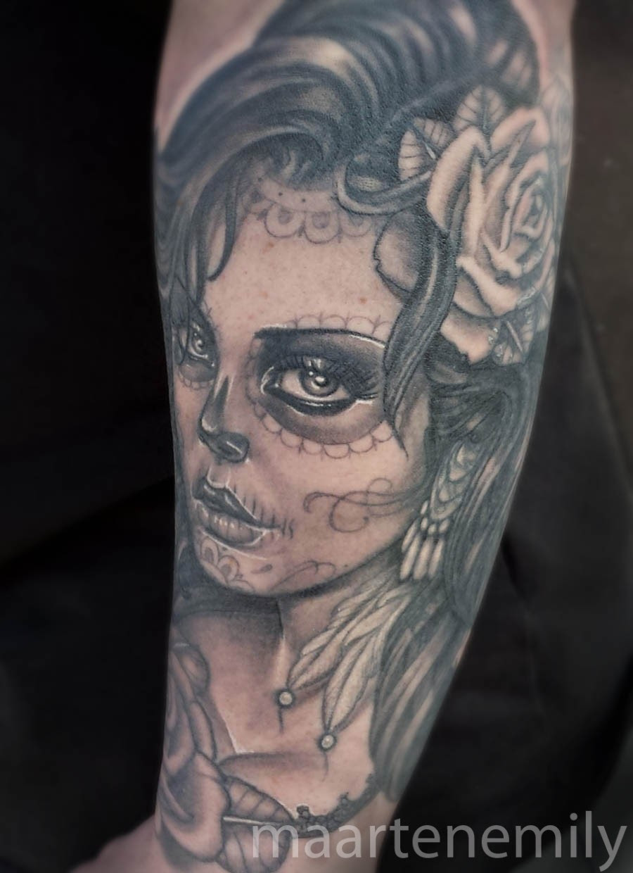 Day Of The Dead Girl Tattoo Inkredible Ink Tattoo