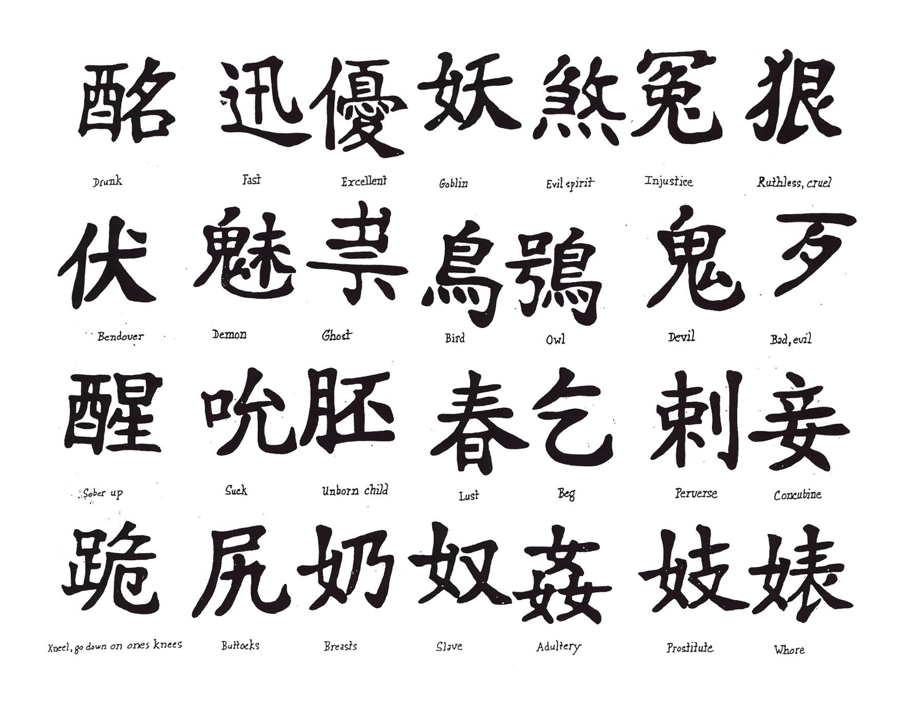 Símbolos Y Dibujos Chinos Diversos Para Diseños Y Tatuajes Mil