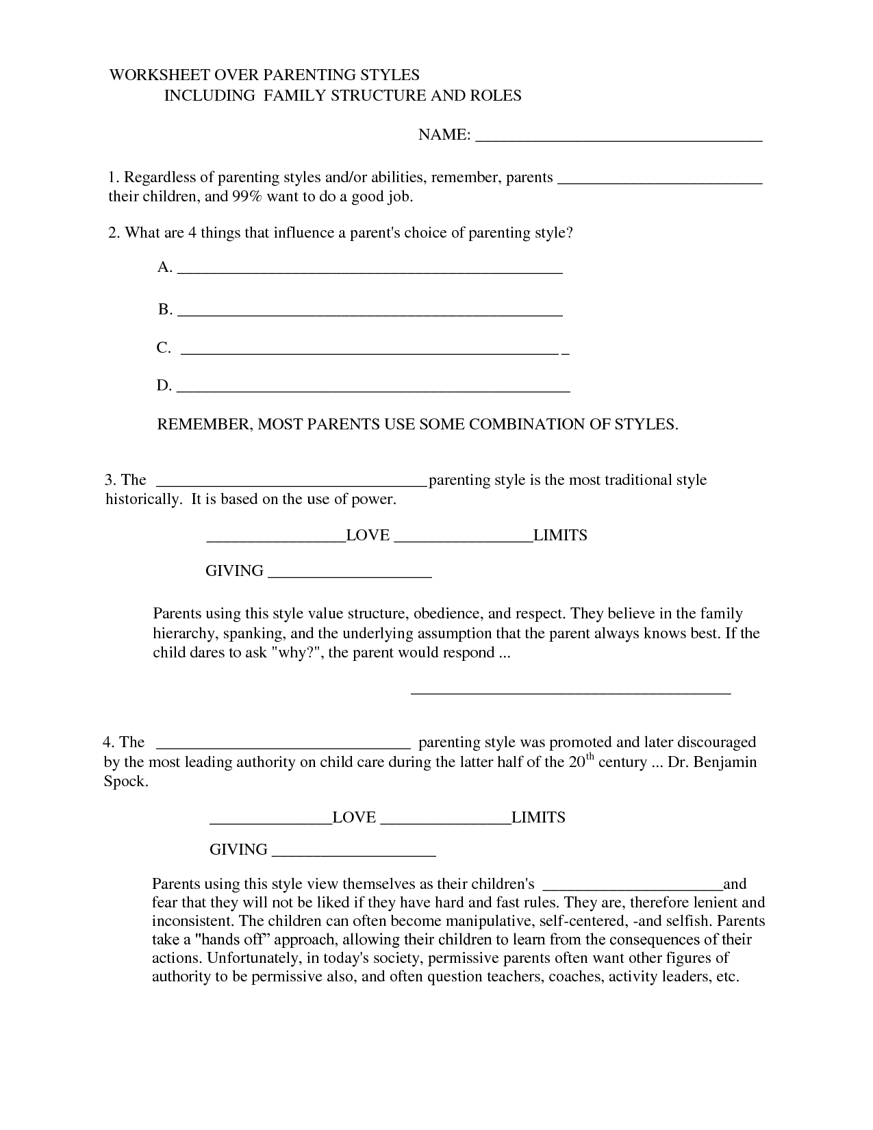 12 Best Images of Family Communication Worksheets  ParentChild Communication Worksheets