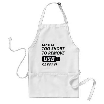 Remove USB Safely Adult Apron
