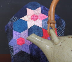 Teapot and cozy - close up