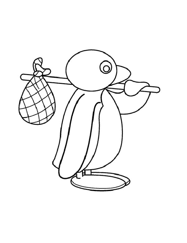 Pingu is Going for Adventure Coloring Page  Coloring Sky