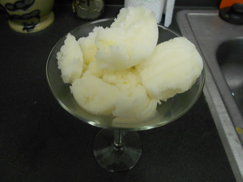 white grape sorbet