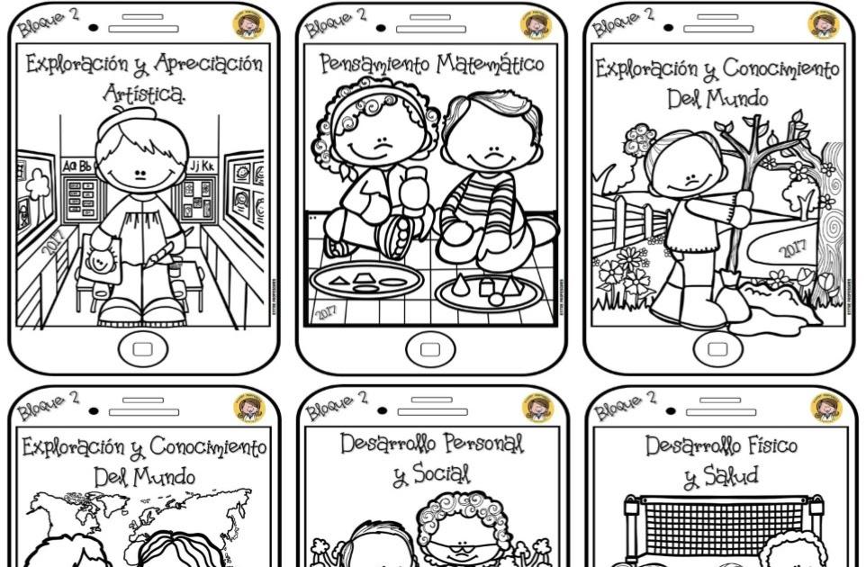 Dibujos Para Colorear De Libro Y Libreta: Portadas De Cuadernos Para Colorear: Dibujo Del Mes