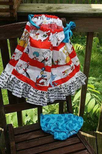 Dr. Seuss pillowcase dress and diaper cover