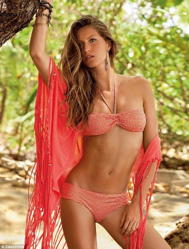 These photographs of Gisele Bundchen were taken just two months after she