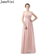 JaneVini Country Western Blush Bridesmaid Dresses Long