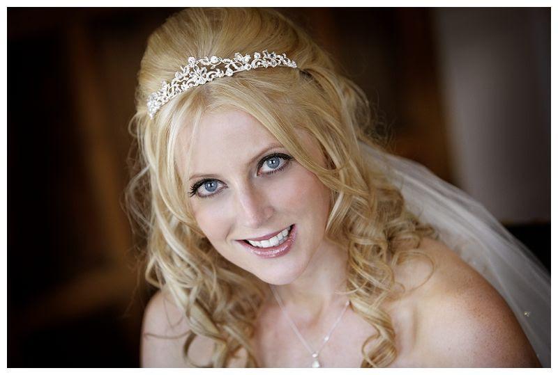 Weddings at Fanhams Hall 5, Bride portrait