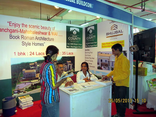 Bhujbal Grand County 1 BHK 2 BHK Flats Wai Panchgani Road -  Visit Sakal Agrowon Green Home Expo, 25th and 26th May, 2013