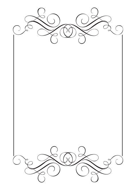 Decorative frames and border standard rectangle hand drawn