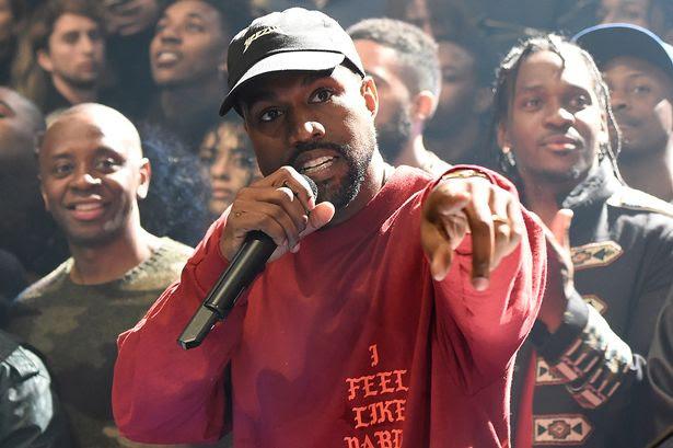 Kanye West addresses the crowds