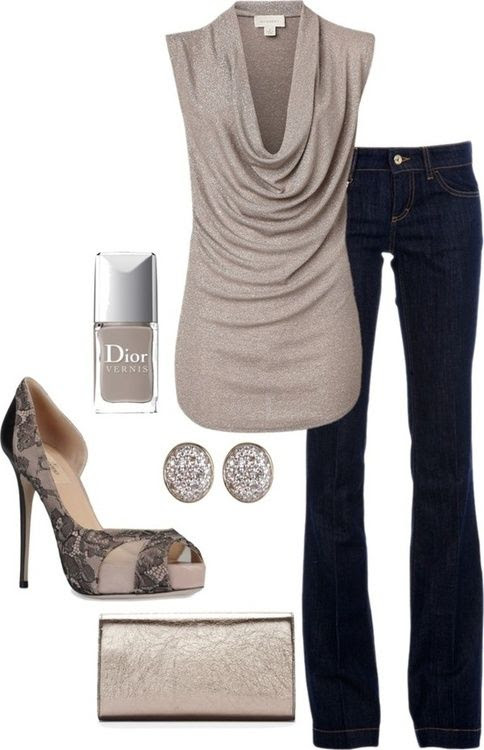 Simple Casual sophisticated outfit - Would add a delicate necklace or sophisticated bracelet from www.jewelryfanatic,kitsylane.com to finish off the look