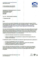 Scottish Government blocks release of SLCC disclosure Page 1