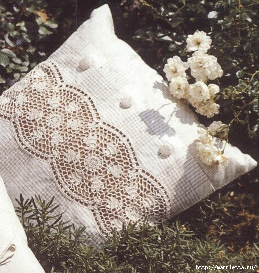 Crochet.  Decor pillowcases for pillows (5) (518x546, 251Kb)
