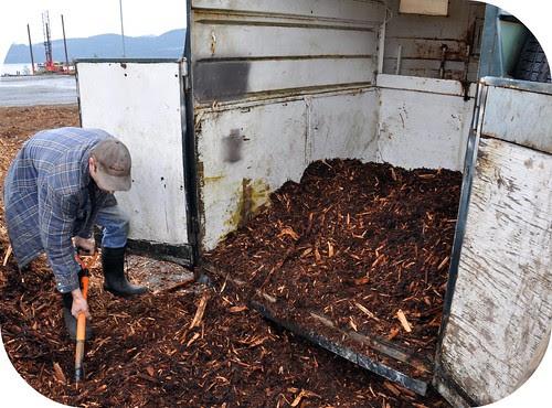 Hauling bark mulch