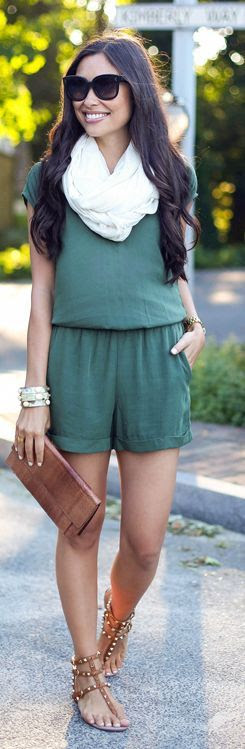 Scoop Nyc Olive Relaxed Sleeveless Playsuit by With Love From Kat