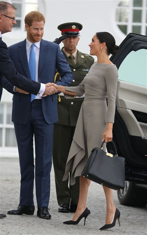 Meghan Markle: For day two in Dublin, Meghan wore a grey