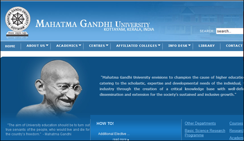 Mahatma Gandhi M G University Admission 2014 15 Know