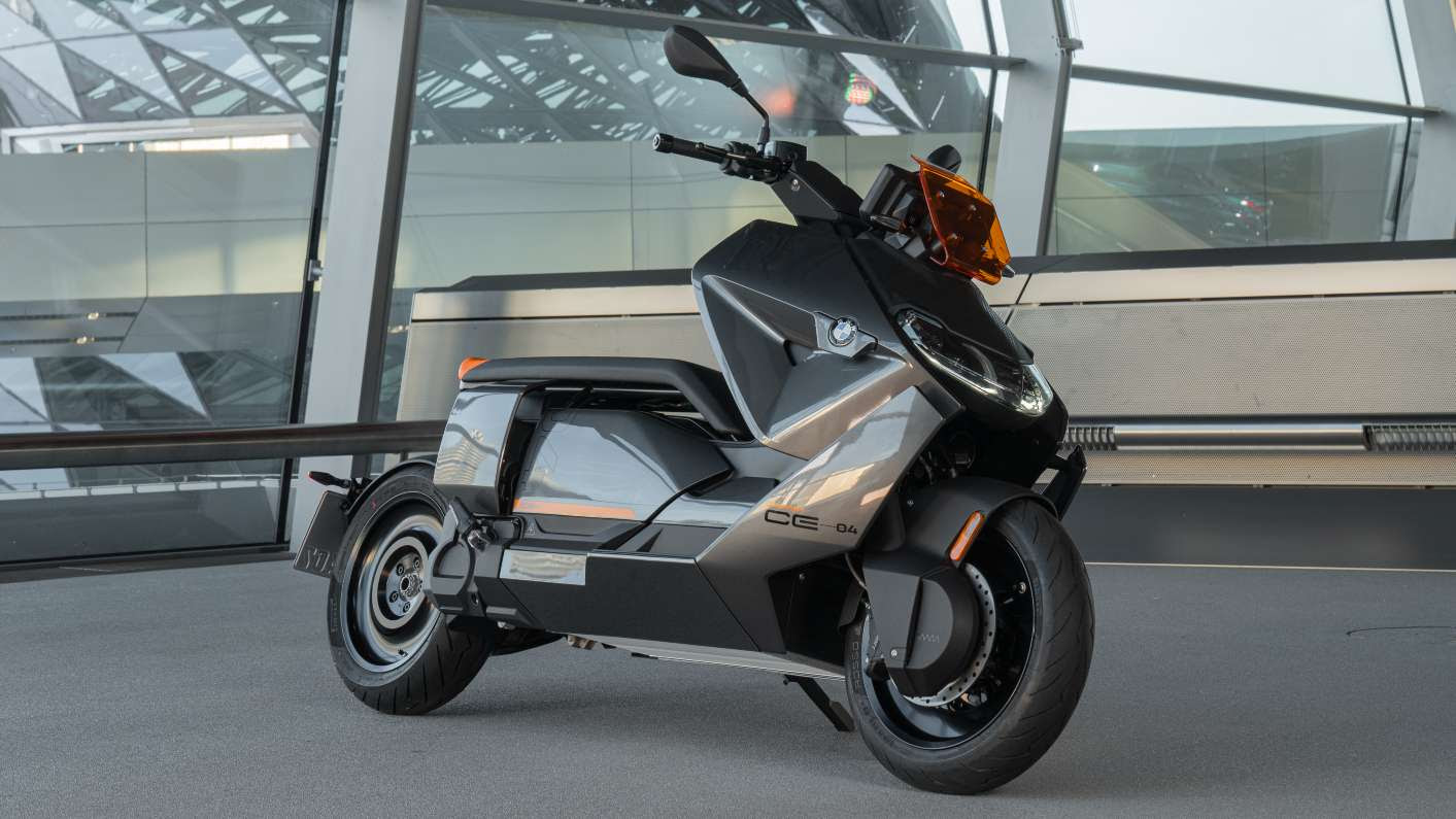 The radical design of the BMW CE 04 will certainly polarise opinion. Image: BMW Motorrad