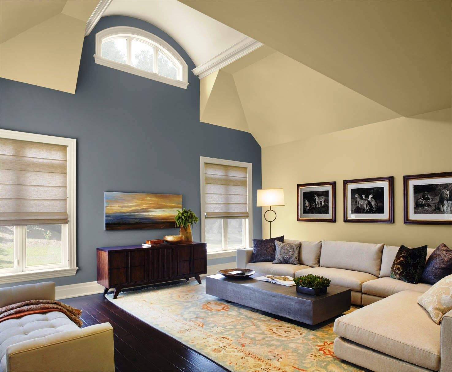 Living Room Wall Colors With Dark Furniture Paint Warm For ...