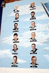 presidents on palestine mural