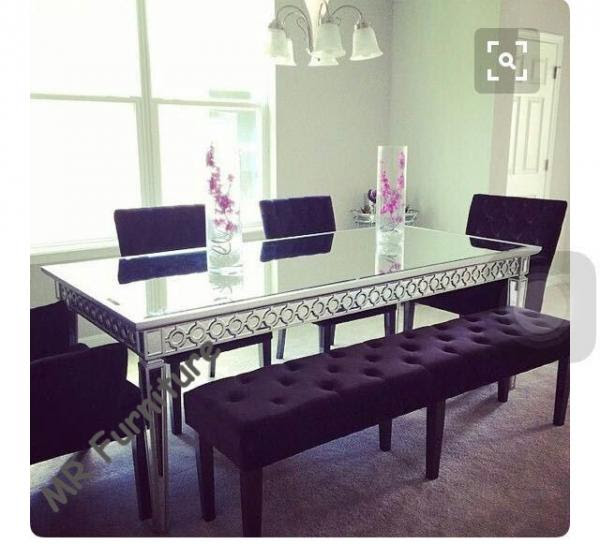 Sophia Silver Glass Dining Table 160 90 75cm Mirror Dining Room Table For Sale Mirrored Dining Table Manufacturer From China 107589177