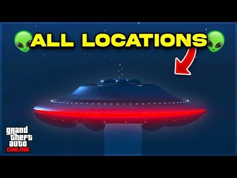 All Alien UFO Locations In GTA 5 Online - NEW Alien UFO Event Explained! (Halloween Update 2021)