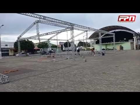 Imagens do local onde Bolsonaro irá ser recebido na cidade de Tianguá