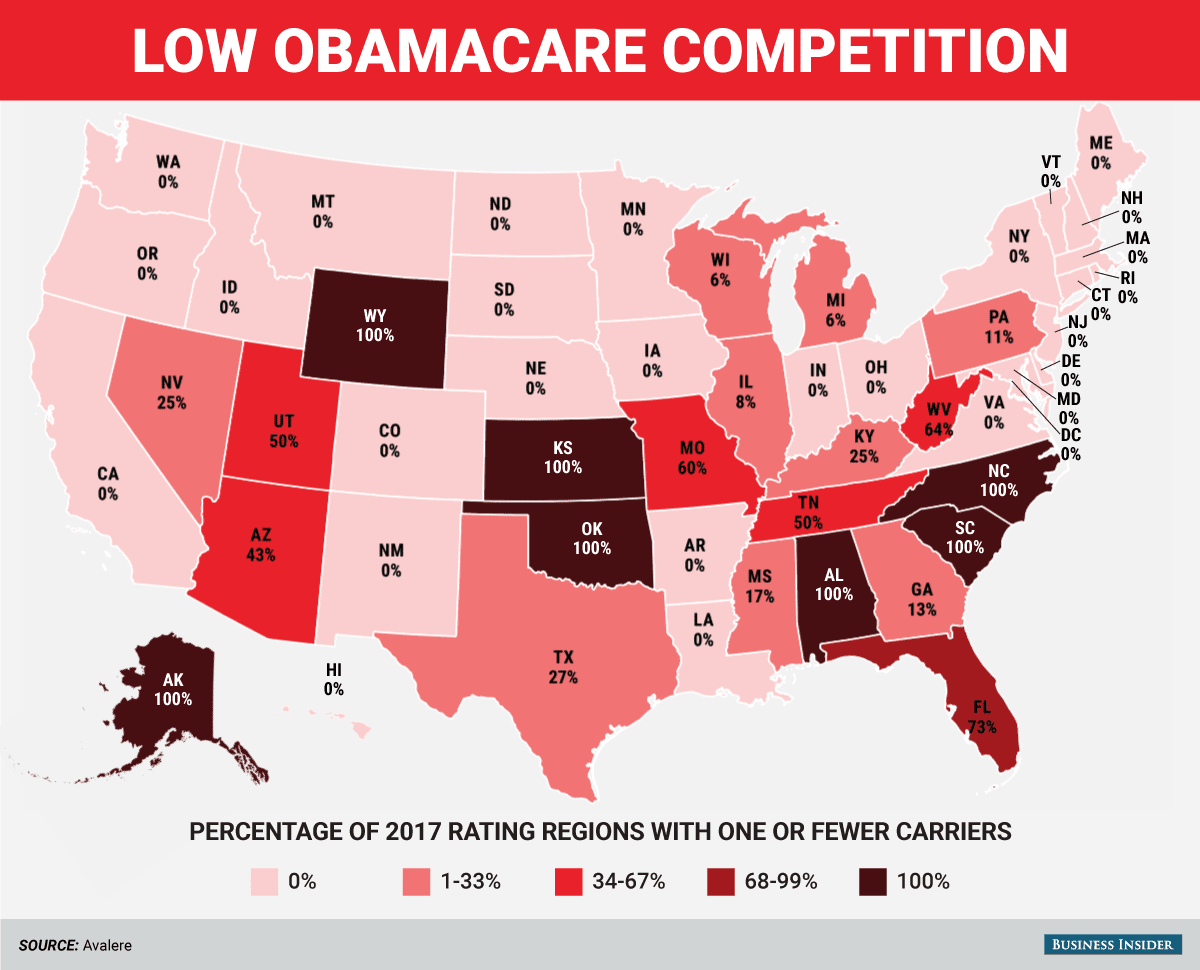 South Carolina is the 5th state with only one Obamacare ...