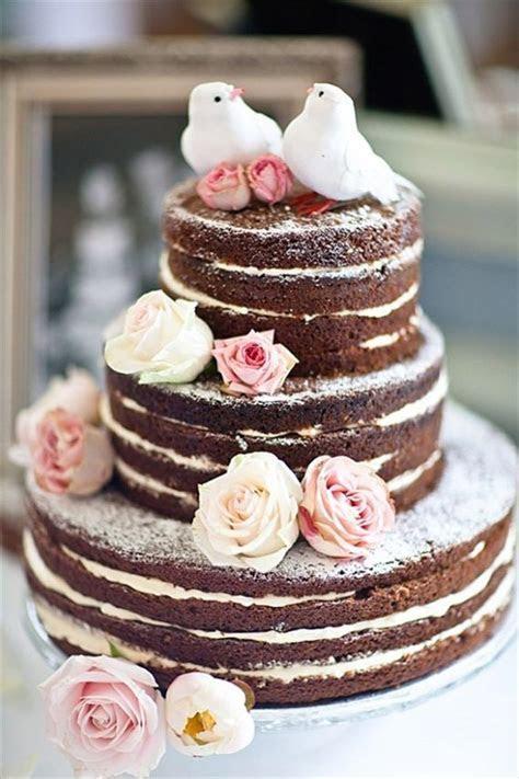 49 Naked Wedding Cake Ideas for Rustic Wedding   Deer