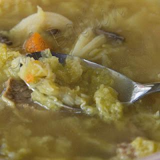 Zdjęcie - ZUPA Z KAPUSTĄ WŁOSKĄ - Przepisy kulinarne ze zdjęciami