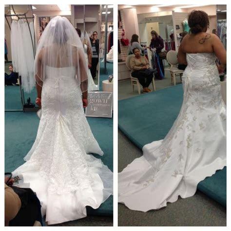 David's Bridal plus size wedding gown  let me see pics!