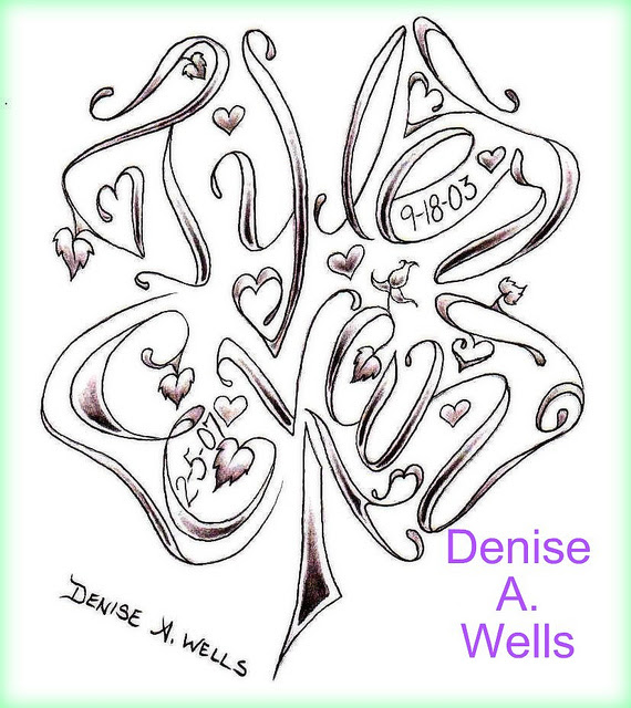 Butterfly Shaped Name Tattoo Design By Denise A Wells Tattoomagz
