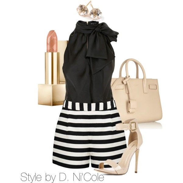 striped polyvore outfits to hit the streets this summer