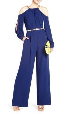 BCBGMAXAZRIA Flo Open-Shoulder Jumpsuit
