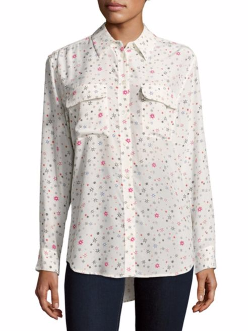 Equipment Printed Silk Shirt