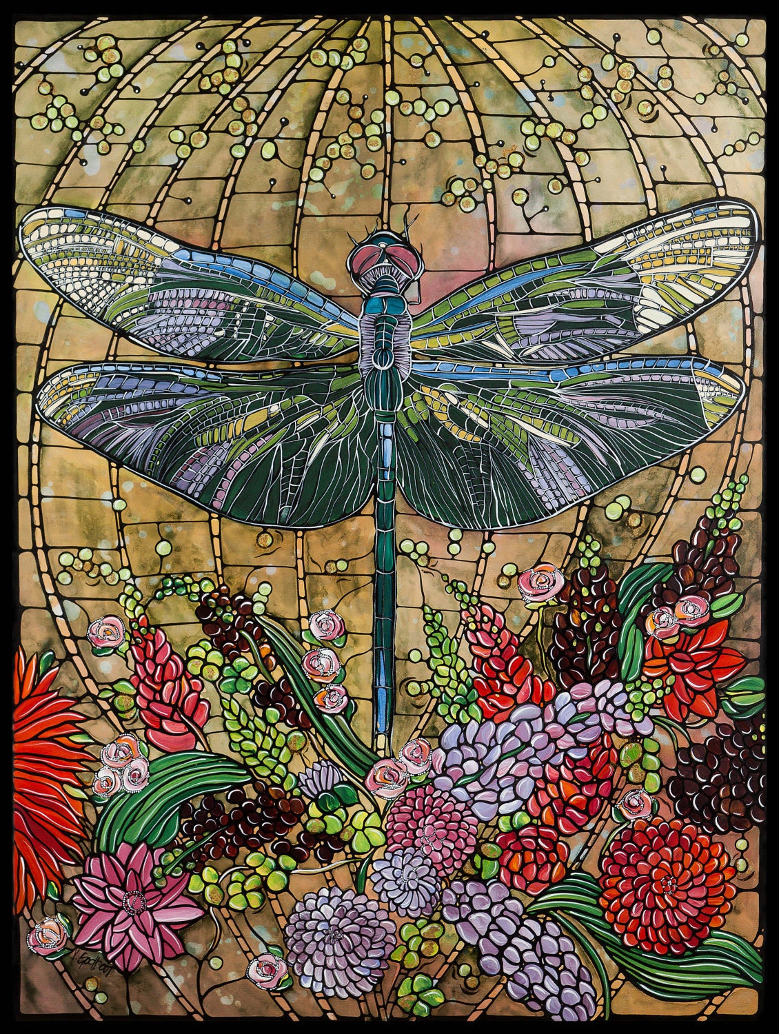 Popular items for Dragonfly art on Etsy