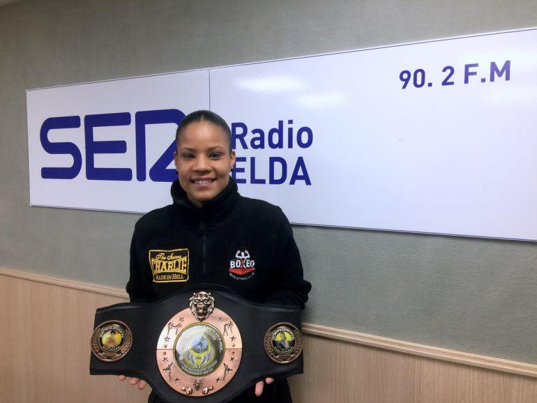"""Katherine Quintana, """"La Mamba Negra"""", en Radio Elda - Cadena SEr"""