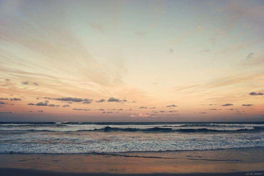 sharpes beach sunset