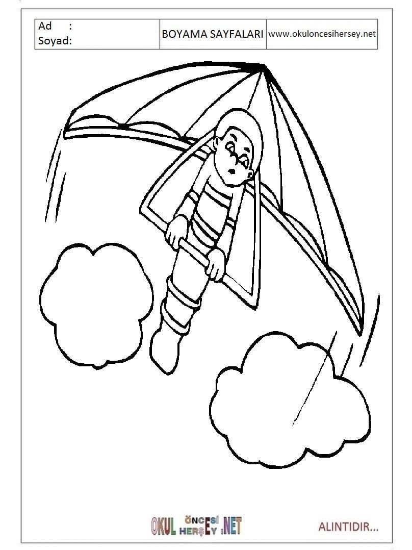 Paraşüt Boyama Sayfaları
