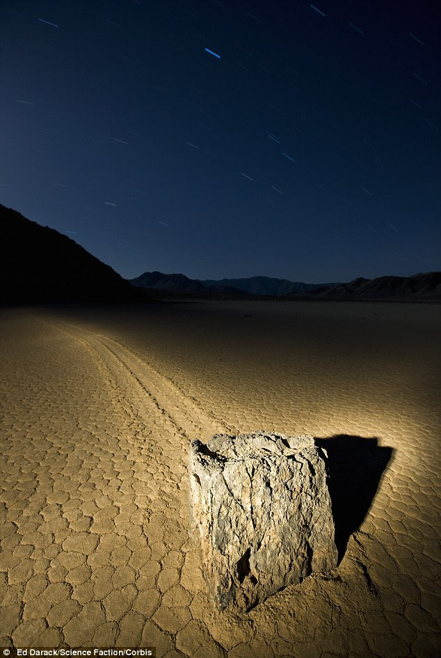 Mythic: The strange and wonderful movement of the stones in the barren expanse of Death Valley has led some to say that the rocks are magic or are moved by aliens