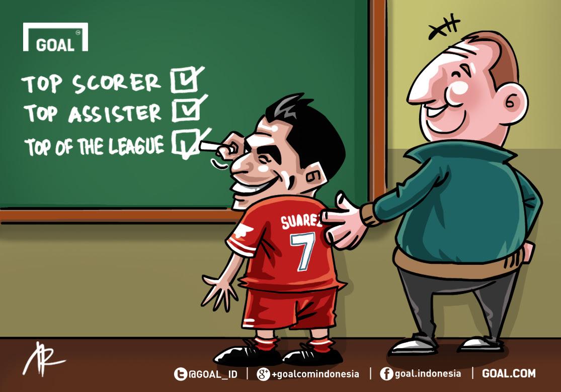 GALERI Kartun Goal Indonesia Luis Suarez Penuhi Tugas Goalcom